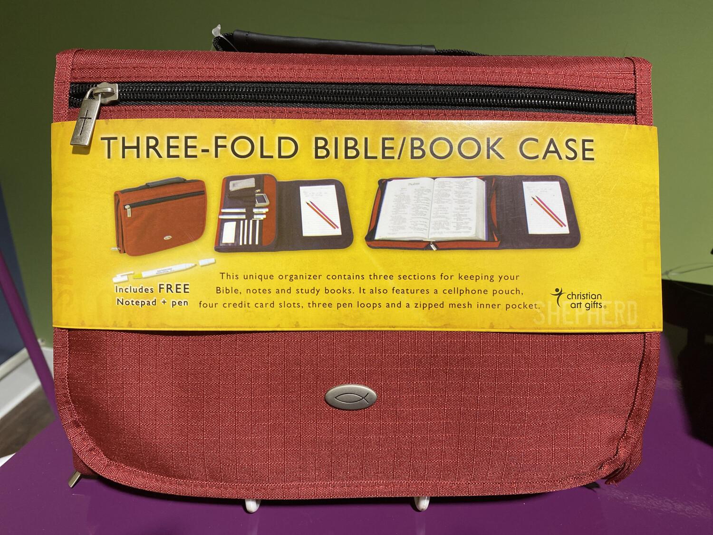 Large, Bible Cover, Tri-fold Burgundy
