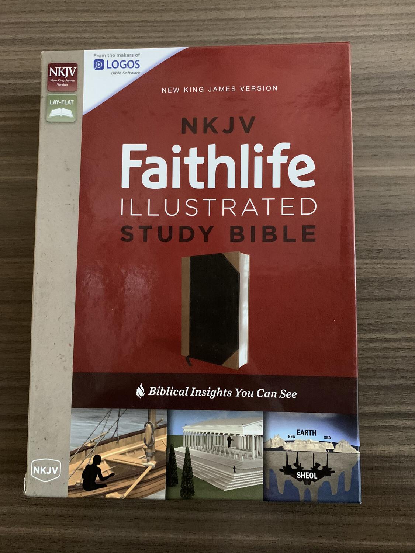NKJV Faithlife Illustrated Study Bible Black Tan