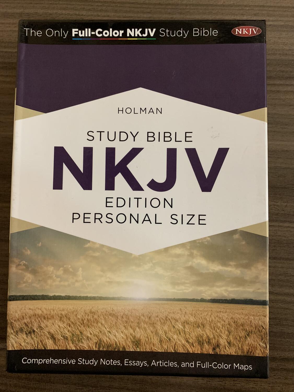 NKJV Study Bible Indexed Expresso Teal