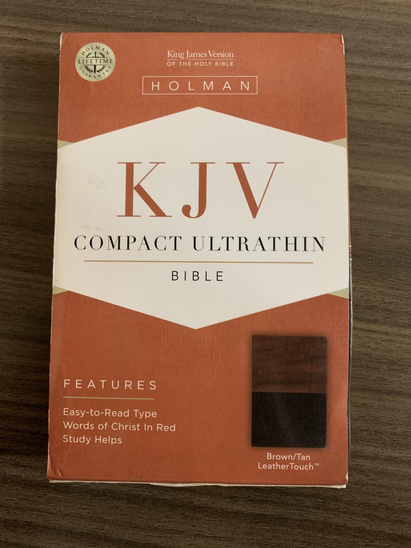 KJV Compact Ultrathin Brown/Tan