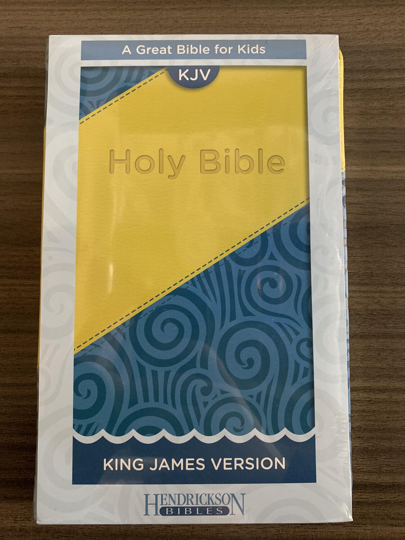 KJV Kids Bible Blue/Yellow
