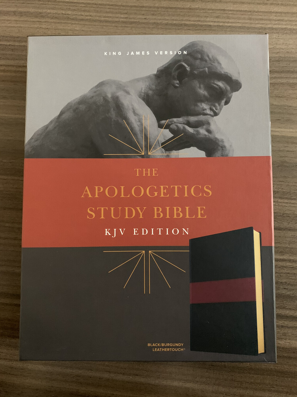 KJV, The Apologetics Study Bible Black\burgundy