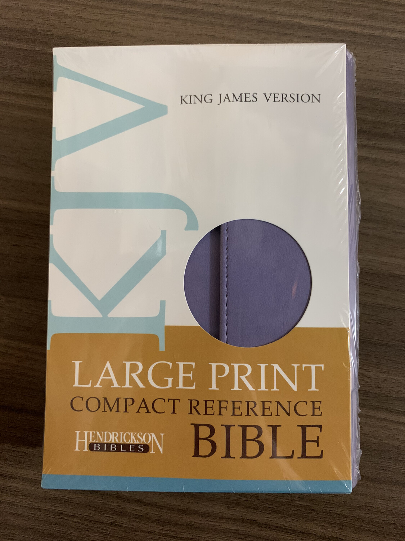 KJV LP Compact Ref Bible Lilac Flap