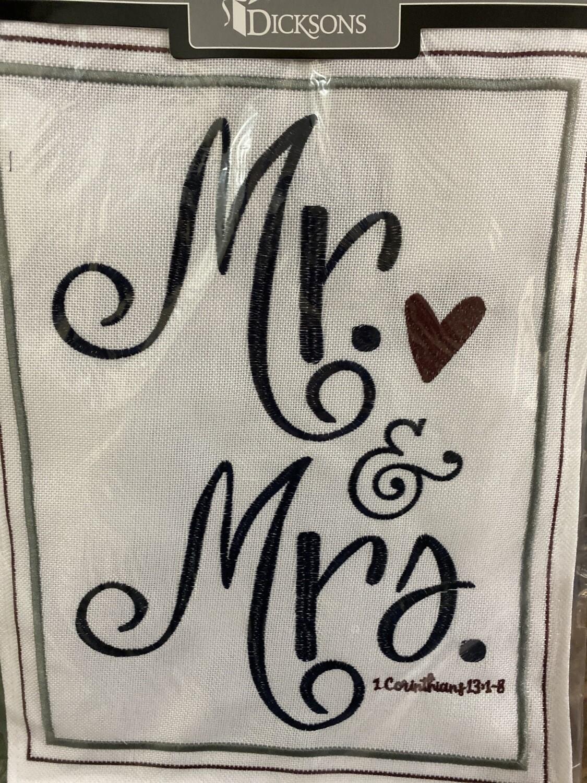 Garden Flag 13x18, Mr.&Mrs.