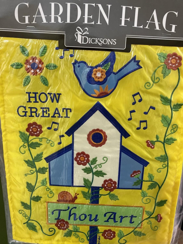 Garden Flag How Great Thou Art