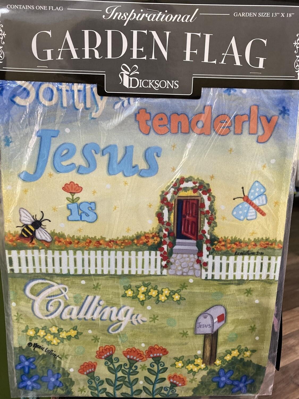 Garden Flag 13x18, Softly, Tenderly Jesus Is Calling