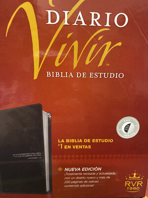 RVR1960, Diario Vivir Biblia De Estuidio, Negro, Indice