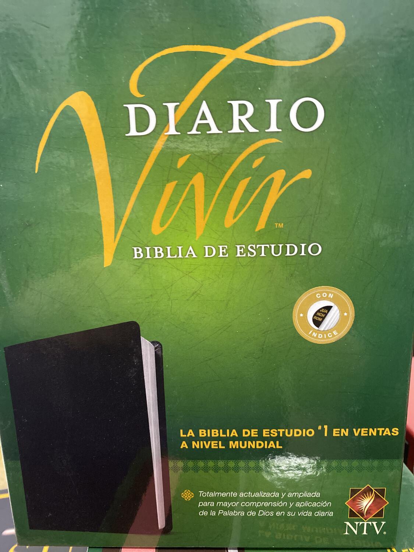 NTV, Diario Vivir Biblia De Estudio, Negro Indice