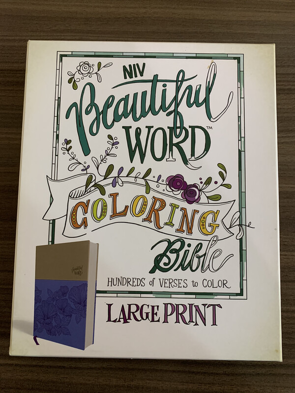 NIV, Beautiful Word Coloring Bible, LP, Purple Leathertouch
