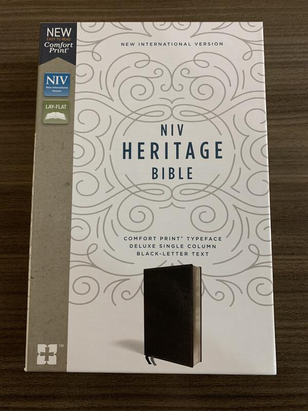 NIV Heritage Bible, Black