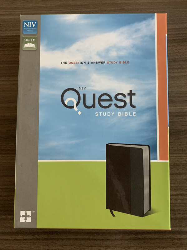NIV Quest Study Bible Brown\grey