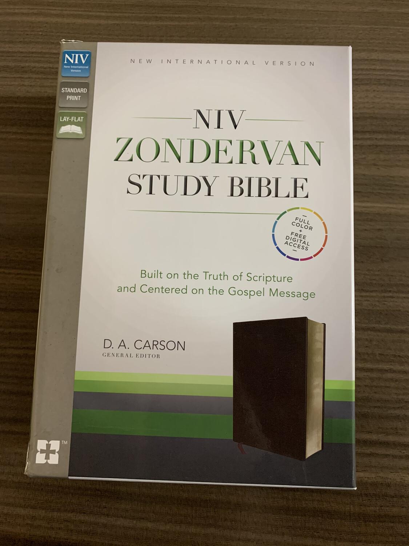 NIV, ZONDERVAN Burgundy Study Bible