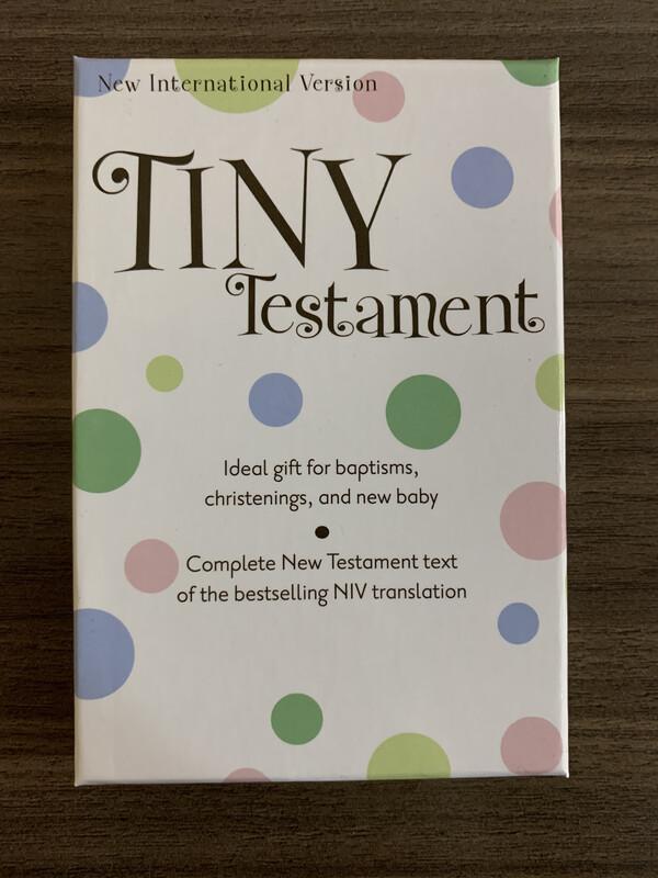 NIV, Tiny Testament, White