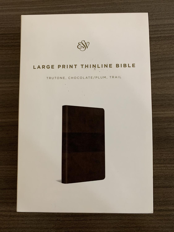 ESV LP Chocolate Plum Bible