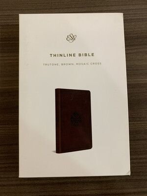 ESV Thinline Bible Brown Mosaic Cross