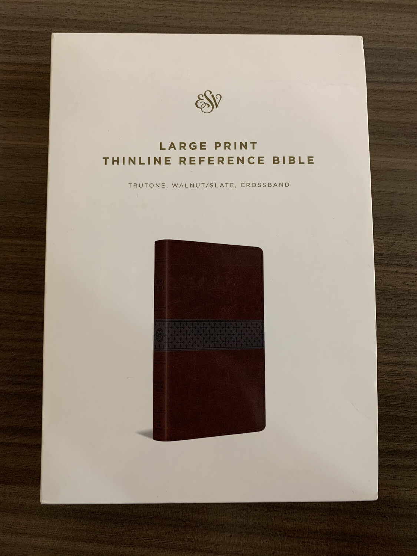ESV LP Walnut Slate Refence Bible