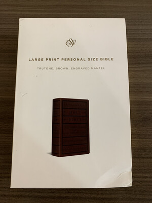 ESV LP brown Engraved Bible