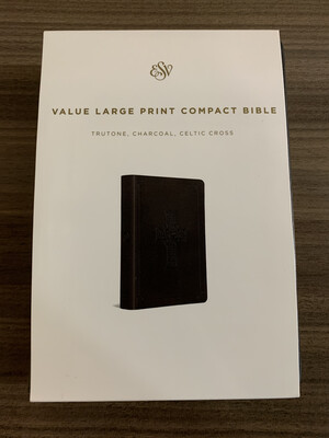 ESV, Value Large Print Compact Bible, Celtic Cross