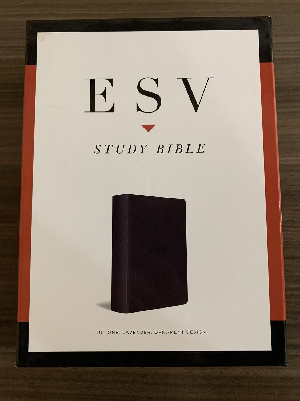 ESV, Study Bible, Lavender