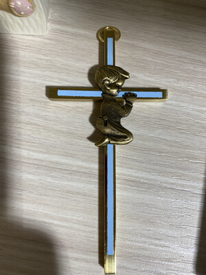 Cross Wall Boy Praying