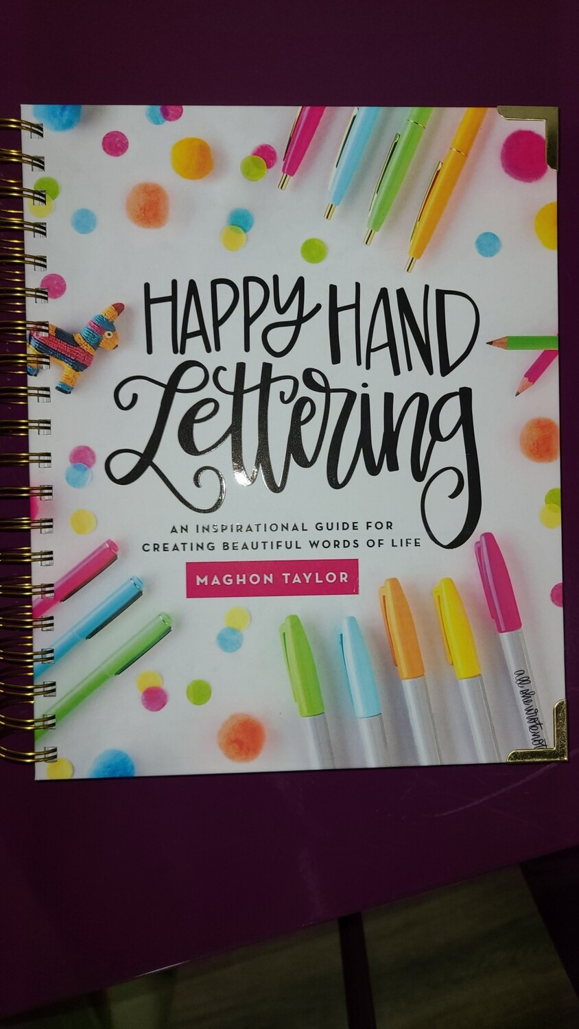 Journal, Happy Hand Lettering (Maghon Taylor)