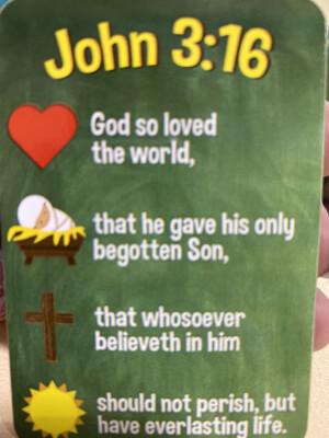 Bookmark, John 3:16