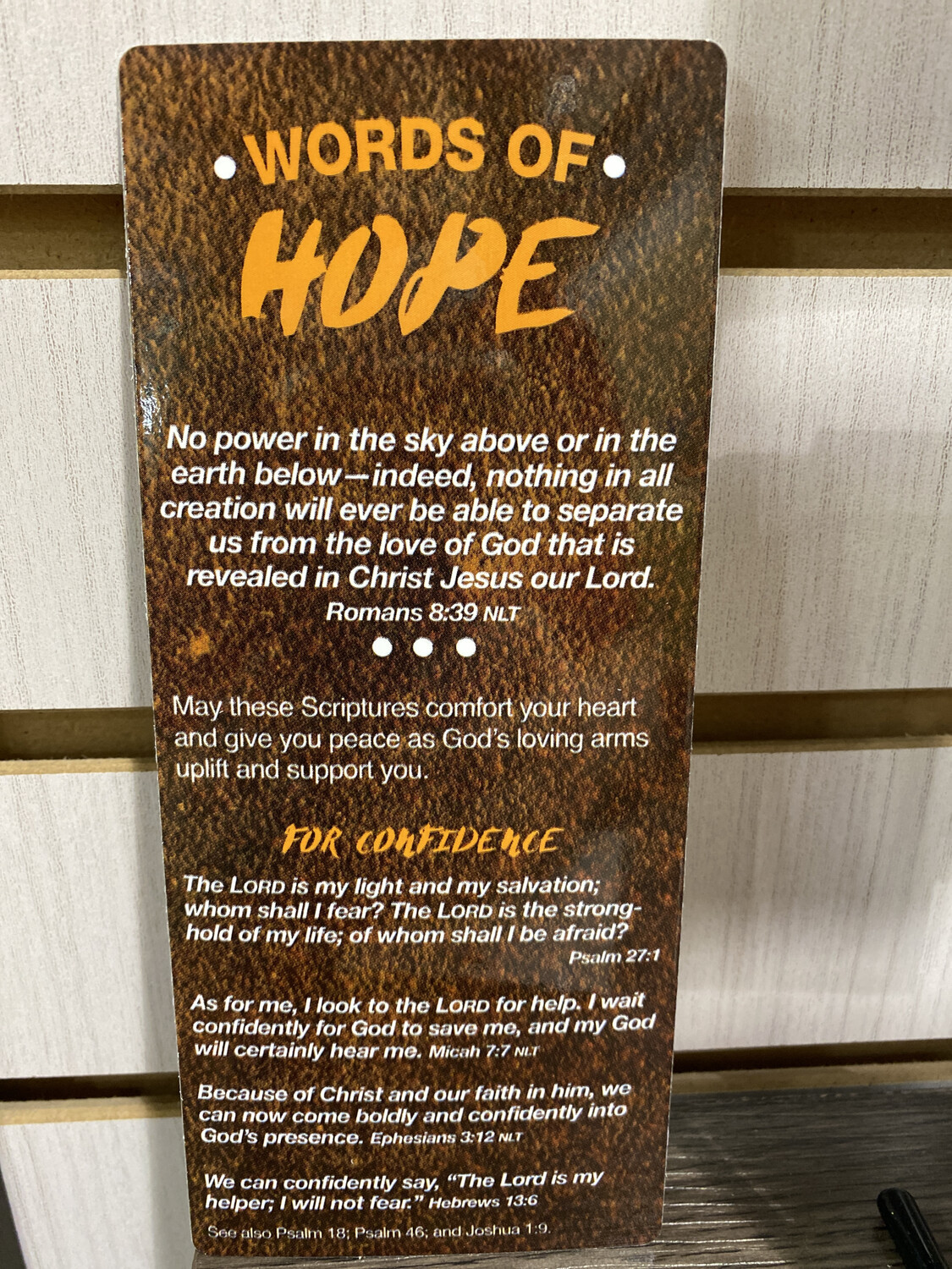 Bookmark, Words Of Hope