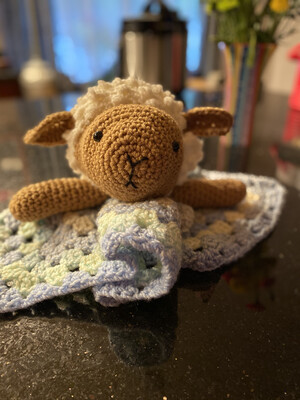 Lamb Lovey For Toddlers