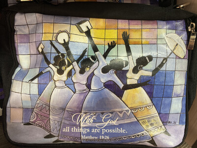 All Things Possible Bible Cover With Strap