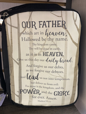 Lord's Prayer Bible Cover With Strap