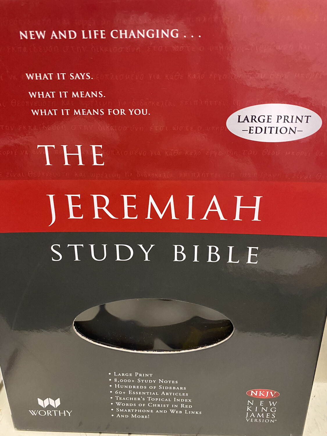 The Jeremiah Study Bible LP Black Leather