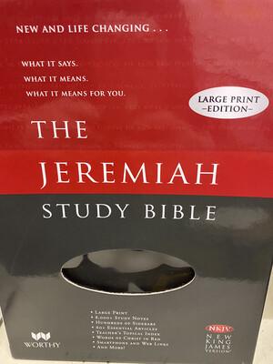 The Jeremiah Study Bible LP Black Leather