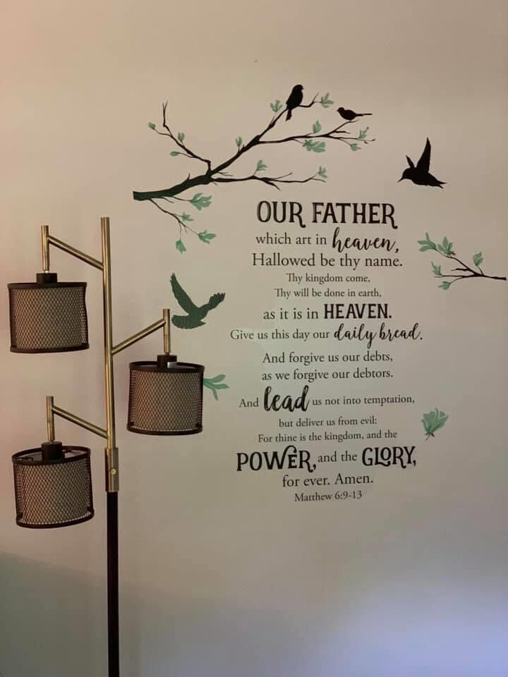 Wall Decal, Lords Prayer