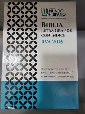 RVA 2015, Biblia Letra Grande Indice