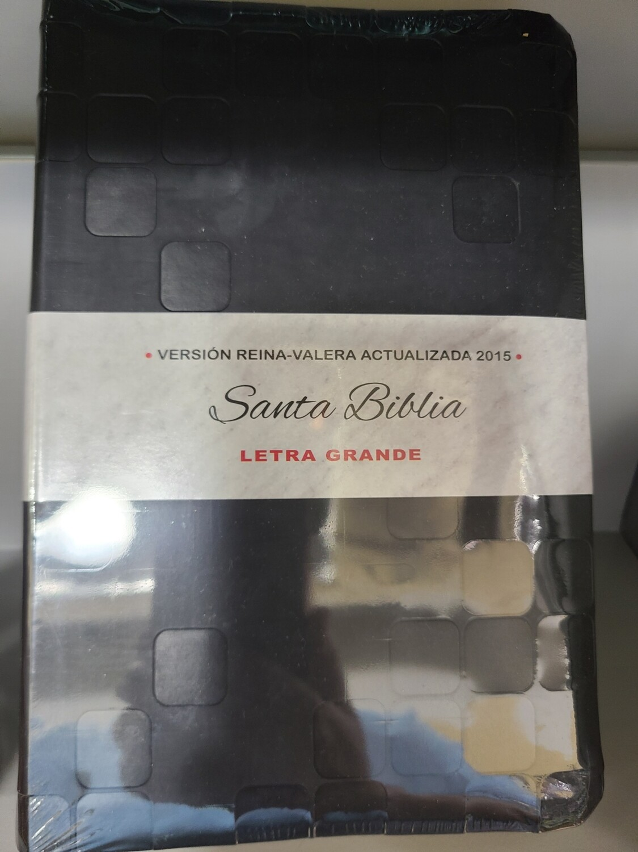 RVA 2015, Santa Biblia, Letra Grande, Black