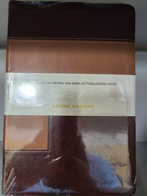 RVA 2015, Santa Biblia, Letra Grande, Brown