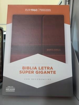 RVR 1960 Biblia Letra Grande Brown, Flap Ind.