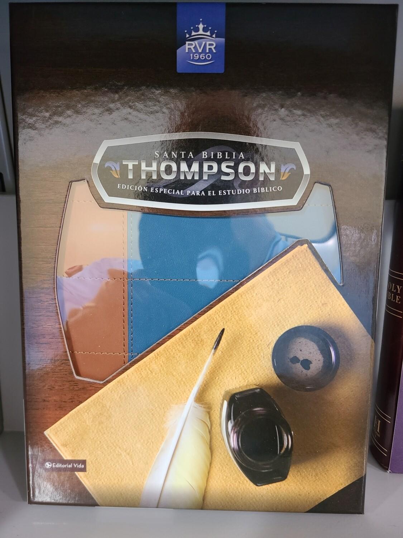RVR 1960 Santa Biblia Thompson, Azul/Marron