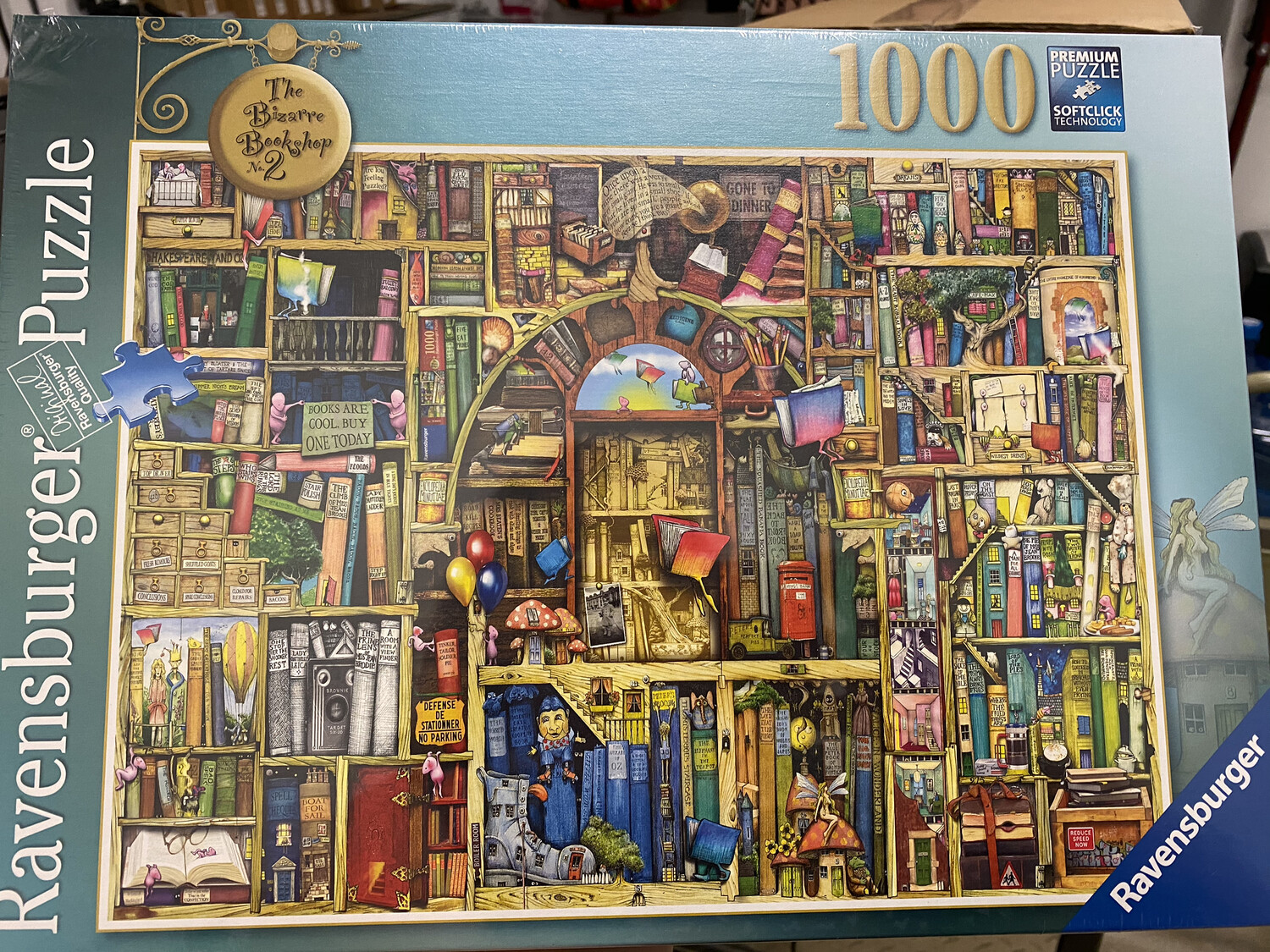 The Bizarre Bookshop No. 2, Ravensburger 1000 Piece Puzzle