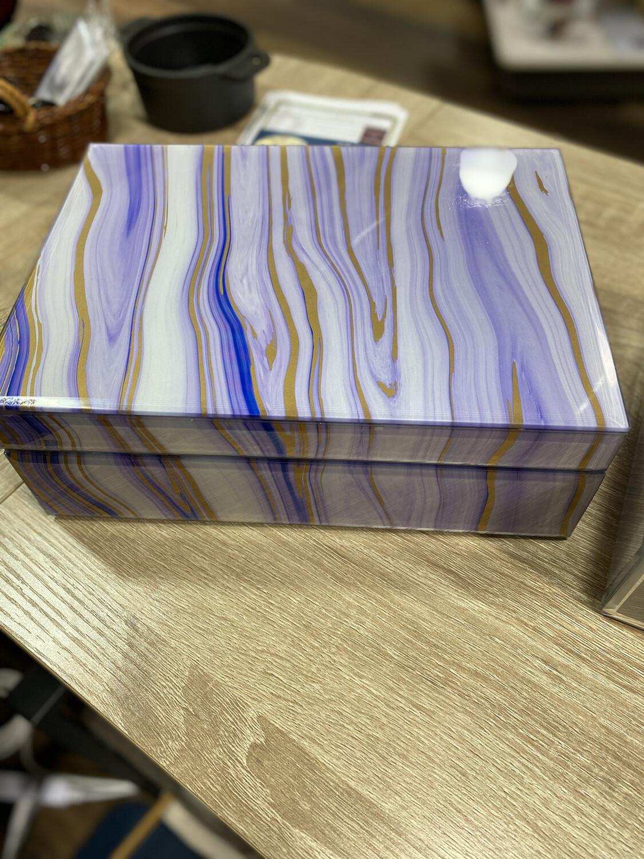Maya Angelou Purple Keepsake Box