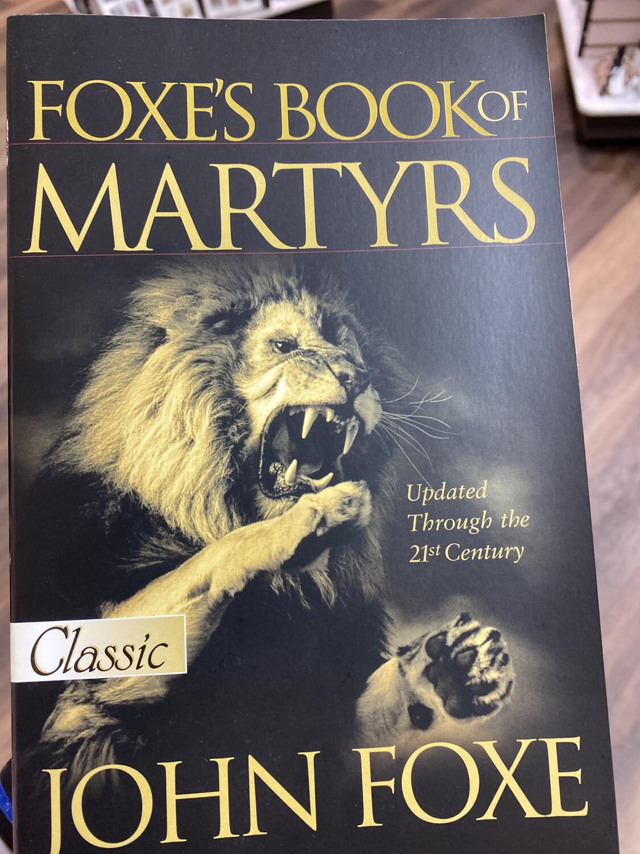 FOXE, Foxe's Book Of Martyrs
