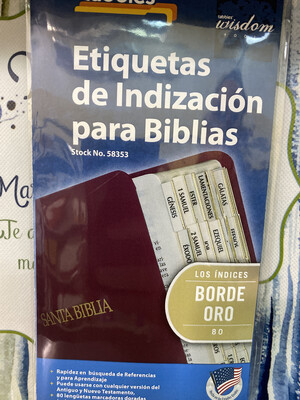 Spanish Gold-edged Bible Tabs