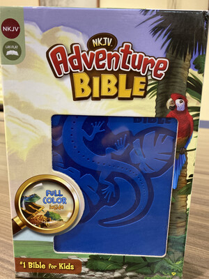 NKJV, Blue Lizard Adventure Bible