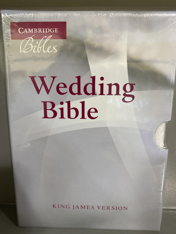 KJV, Wedding Bible, French Morocco Leather, White