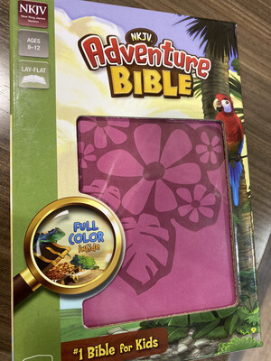 NKJV, PInk Flower Adventure Bible