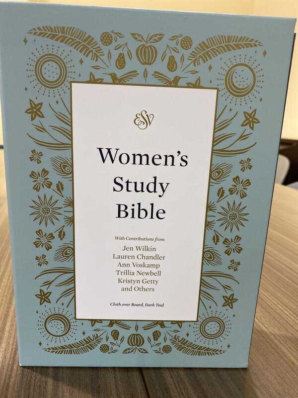 ESV, Women's Study Bible, Cloth Over Board, Dark Teal
