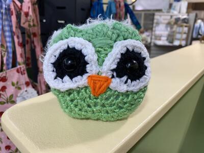 Owl, Green & Grey Back