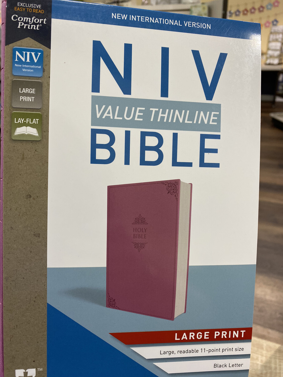 NIV, Value Thinline, Large Print, Orchid Leathersoft