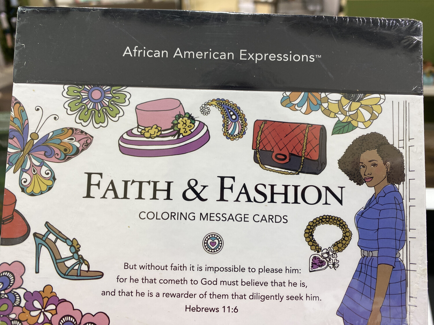 Faith & Fashion Coloring Message Cards