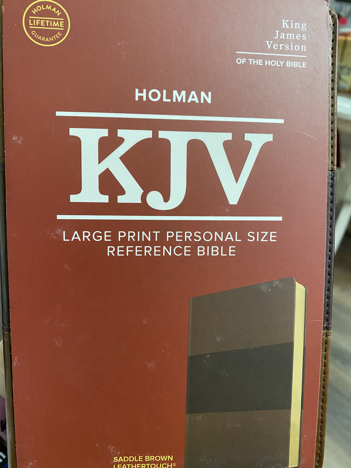 KJV, Large Print, Personal Size, Reference, Saddle Brown Leathertouch